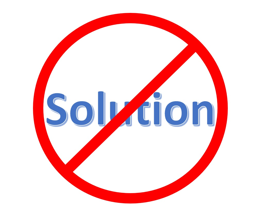 The Anti-Solution Bias